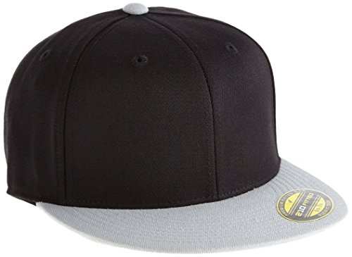 Flexfit Erwachsene Mütze Premium 210 Fitted 2-Tone, Blk/Gry, L/XL, 6210T