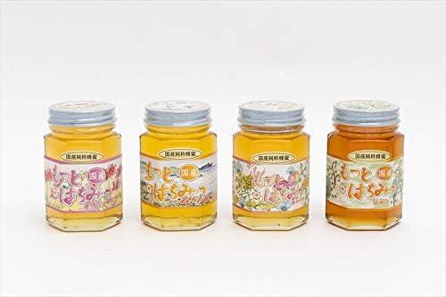 【国産純粋ハチミツ・養蜂園直送】れんげ蜂蜜 みかん蜂蜜 百花蜂蜜 山蜂蜜 各180g