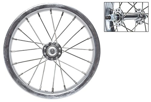 Wheel Master 12-1/2 x 2-1/4 Front Bicycle Wheel, 20H, Steel, Bolt On, Silver (12 Rim Bike)