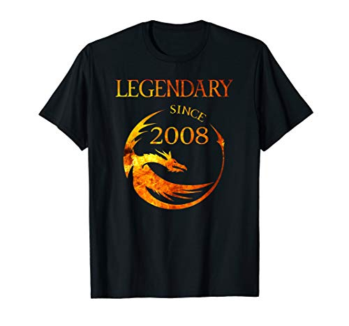 2008 Dragon - 11th Birthday Shirt Dragon T-Shirt Legendary Since 2008