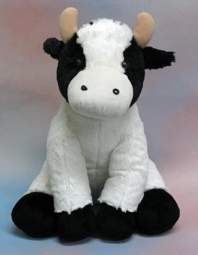 """Wishpets 17"""" Cow White with Black Plush Toy"""