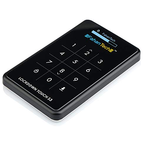 Made in Korea - Upgraded SATA III FahanTech Lockdown Series AES 256-bit Hardware Encrypted Hard Drive Enclosures (SATA III Metal-Black) (Hard Drive Ata Encrypted Serial)