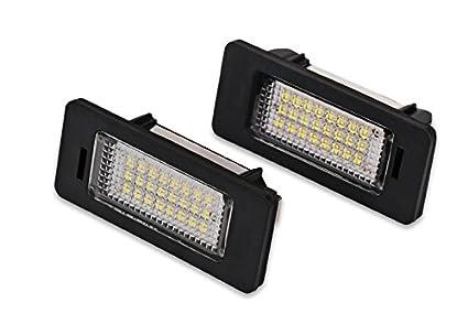 1 par de bombillas LED para matrícula de coche, 12 V, 24 LED,