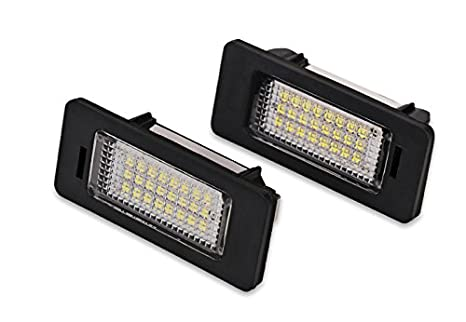 1 par de bombillas LED para matrícula de coche, 12 V, 24 LED, para Audi, A4, Canbus, etc.: Amazon.es: Hogar
