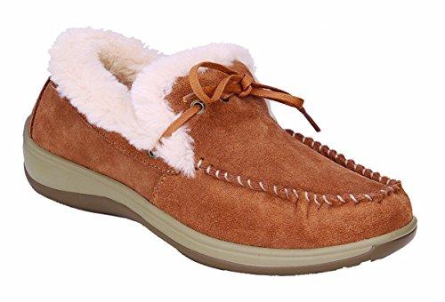 Orthofeet Comfortable Plantar Fasciitis Capri Womens Orthopedic Diabetic Flat Feet Womens Leather Moccasins by Orthofeet