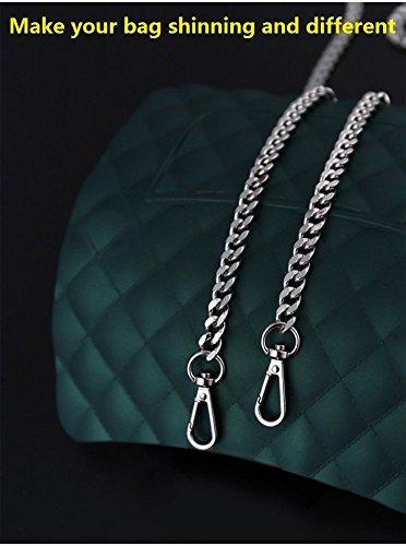 bolso 2 hombro repuesto unidades color metal para de con de para plateado bolso de hebillas de Bandolera cadena mano accesorio qavXOX