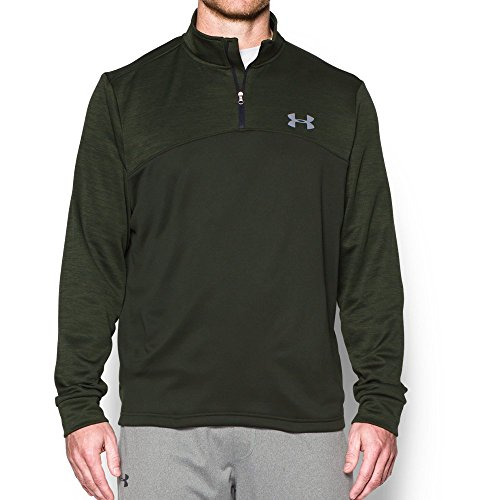 Under Armour Men's Storm Armour Fleece 1/4 Zip, Artillery Green (357)/Steel, Small by Under Armour (Image #4)