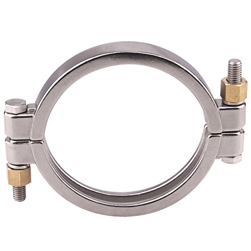 Dernord Sanitary Clamp High Pressure Bolted Tri Clamp Clover Stainless Steel 304 (Tri-clamp: 6 Inch)