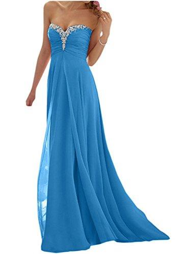 Soirée Robes Robe Fête Jaeden De Bleu Bal Chiffon Longue Demoiselle D'honneur 6nqx4HOwX