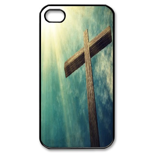 Alice iPhone 4,4s Case,Personalized Custom Christian Cross ,Unique Design Protective TPU Hard Phone Case Cover