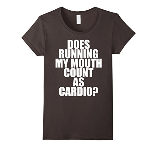 Women's Does Running My Mouth Count As Cardio? Funny Gym ...