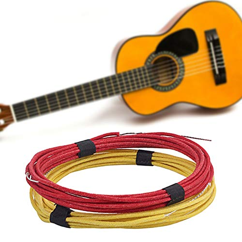 MG554zy0 Gavitt Vintage Pre-tinned Cloth Covered Push Back Guitar Wire Single Core Cable Red+Yellow