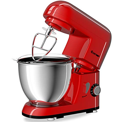 Costway Tilt-head Stand Mixer 4.3Qt 6-Speed 120V/550W Electr