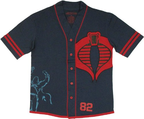 G.I. Joe Cobra Commander Men's Jersey Style T-Shirt, Medium