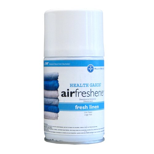 Hospeco Health Gards 07918 Fresh Linen Metered Aerosol Air Freshener, 7 oz Can (Case of 12) ()