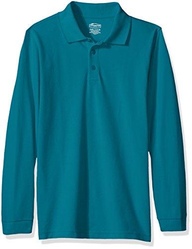 (Classroom School Uniforms Kids Big Boys' Uniform Long Sleeve Pique Polo, Teal, XL)