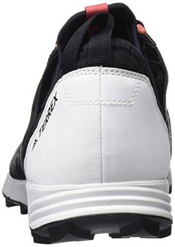 adidas Terrex Agravic Speed W, Botas de Montaña Para Mujer Negro (Negro - (NEGBAS/NEGBAS/FTWBLA))