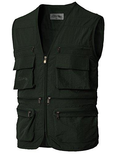 H2H Mens Outwear Travels Sports Vest Khaki US L/Asia XL (KMOV0170)