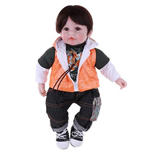 FLAMEER シリコーン 可愛い 50cm シミュレーション 男の子 赤ちゃん人形 人形 結婚式 贈り物