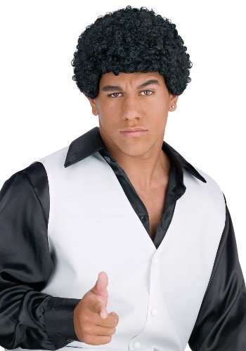 FunWorld Jheri Curl Black Costume Wig]()