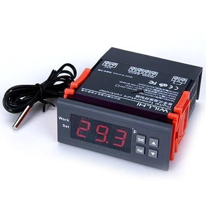 Termostato - TOOGOO(R)LCD pantalla 220V Controlador de temperatura digital Regulador de temperatura