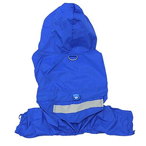 S_ssoy Double Layers Pet Dog Puppy Rain Coat Raincoat Clothes Casual Waterproof Jacket (Blue, L) (Double Link Trim)