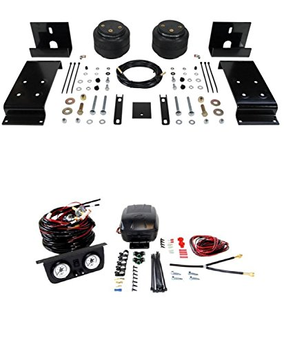 Air Lift 57240 25812 Set of Front Load Lifter 5000 Series with Load Controller II On-Board Air Compressor System Kit for Ford F53 Motorhome