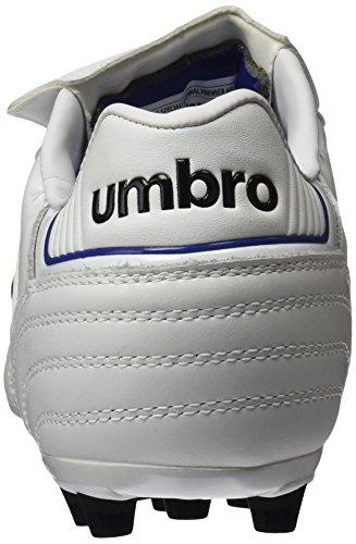 Umbro Umbro Speciali Eternal Premier Ag - Bota para hombres, color blanco / negro / clematis azul, talla 42.5
