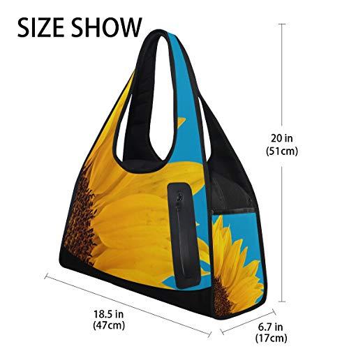 Sunflower 9 Sports Sky Blue Bags DEZIRO Bag Gym for Tq7x8Ew