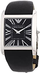Emporio Armani Men's AR2006 Slim Black Leather Strap Watch