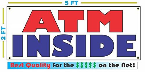 (ATM INSIDE All Weather Full Color Banner Sign)