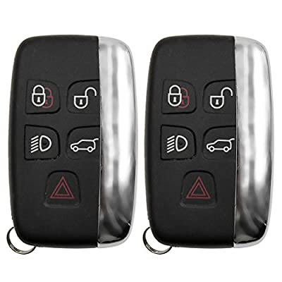 uxcell 2 Pcs 5 Buttons Key Case Shell Replacement KOBJTF10A for Range Rover Discovery 4: Automotive