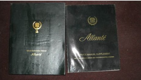 1991 1992 Cadillac Allante Service Repair Manual Set (service manual, and the service manual supplement)
