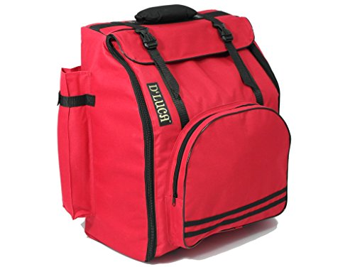 - D'Luca DAG-12-RD Pro Series Accordion Gig Bag for 12 Bass Accordions 1,2 and 3 Row Buttons Panther Corona, Red