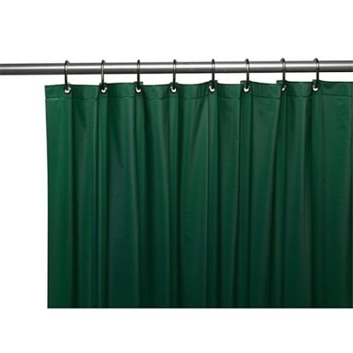 NEW SOLID WATER REPELLANT BATHROOM SHOWER CURTAIN LINER CLEAR ALL COLORS (hunter green)
