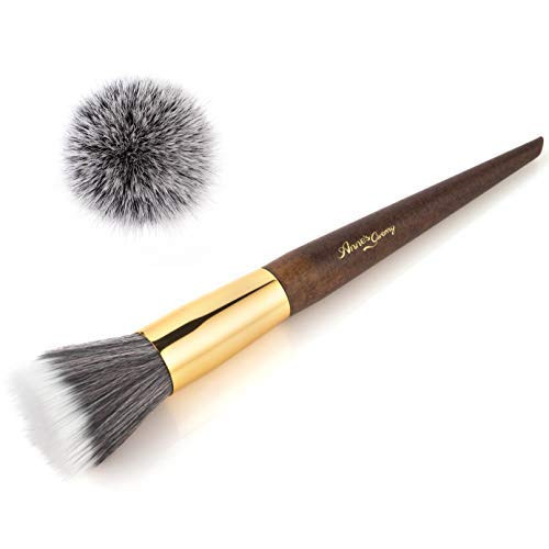 Anne's Giverny Duo Fibre Face Stippling Brush for Makeup Blending Foundation Primer Blush Concealer Bronzer