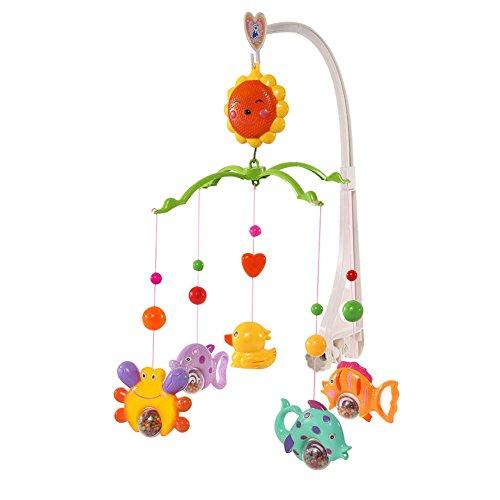 TIAOBU Baby Crib Bed Bell Arm Bracket Wind-up Music Tone Box Toy Cartoon Gift - Crib Decoration For Boys