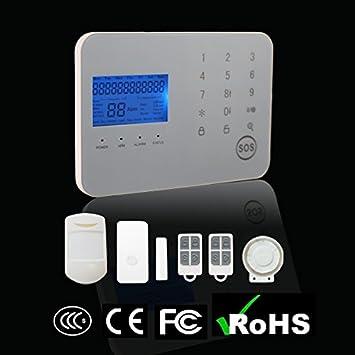 Eshenma Alarma GSM SMS Inalámbrica 99 Zonas 433MHz Antirrobo ...