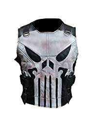 Cling Outfitters Men's The Punisher Season 2 Jon Bernthal Black Real Leather Vest