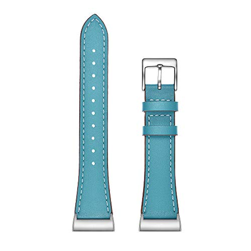 Junshion Fitbit Charge 3 Bands, Quick Release Watch Band Luxury Leather Bands Replacement Accessories Wristband Straps Compatible with Fitbit Charge 3 -