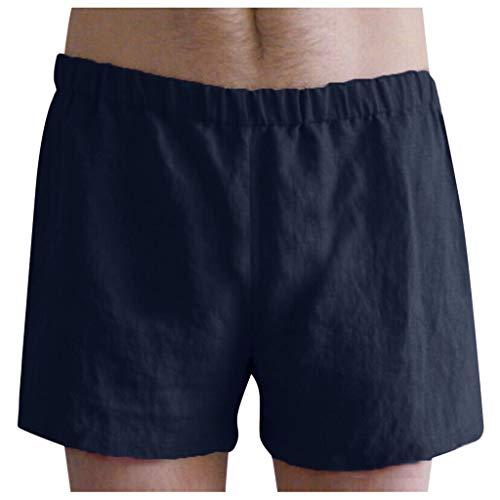 YAYUMI Summer Mens Linen Cotton Pocket Shorts Casual Pants Holiday Beach Bottoms Swim Navy