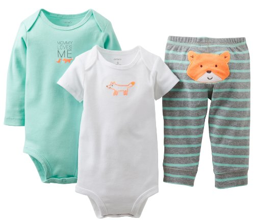 Carter's Baby Boys' 3 Piece ''Take me Away'' Set (Baby) - Mommy Loves Me - Mint - 6 Months by Carter's (Image #2)