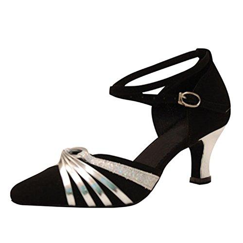 Tango YFF danse 5CM danse Dance femmes 43 Cadeaux chaussures Silver latine Dance OwwqZH0pn