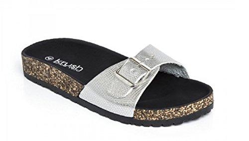 Krush - Sandalias de Material Sintético para mujer plata