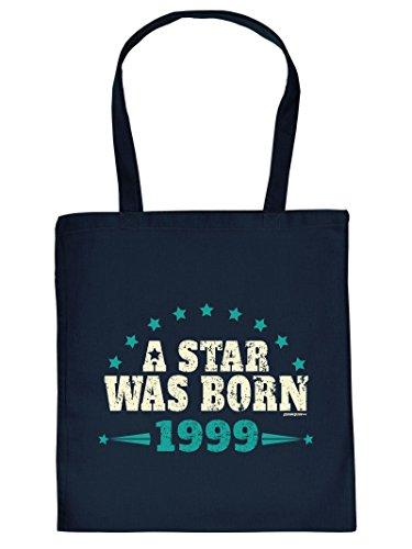 A STAR WAS BORN 1999 :Tote Bag Henkeltasche. Beutel mit Aufdruck. Tragetasche, Must-have, Stofftasche
