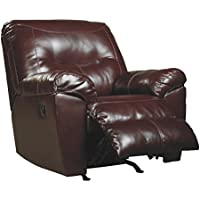 Ashley Furniture Signature Design - Kilzer DuraBlend Recliner - Contemporary Reclining Couch - Mahogany
