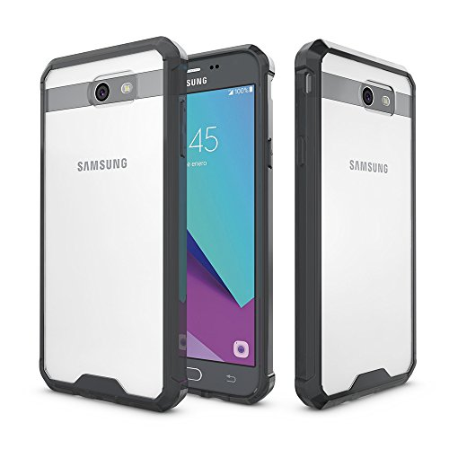 Ultra Clear Slim Case with Flip Cover for Samsung Galaxy J7 (Black) - 8