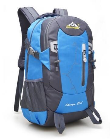 Sport tempo libero trekking grande capacità all' aperto maschio impermeabile in nylon borsa da viaggio borsa a tracolla femmina alpinismo zaino 35L