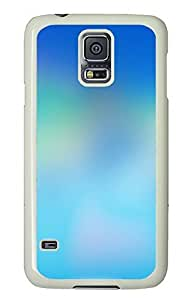 Samsung Galaxy S5 Blue Color Printing Background Image PC Custom Samsung Galaxy S5 Case Cover White