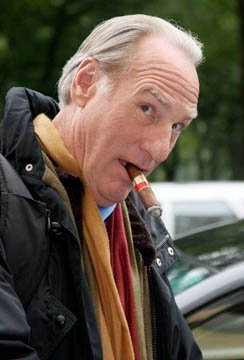 Craig T. Nelson smoking a cigarette (or weed)